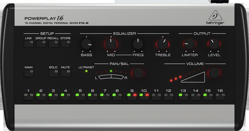 Behringer P16 Digital Mixer -  P16-M_P0421_Front_XL